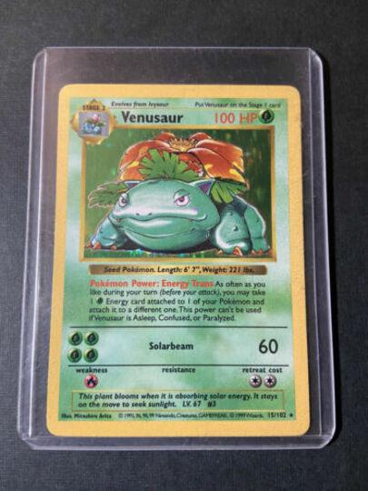 Pokemon Venusaur Shadowless HOLO RARE Base Set 1999 Card #15/102