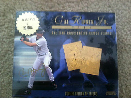 1995 Bleachers 23KT Gold Cal Ripken Jr