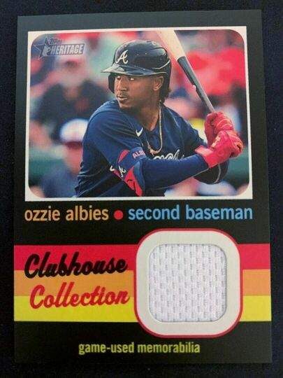 Albies, Ozzie 2020 Topps Heritage High Number Clubhouse Collection