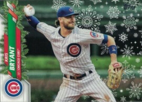 2020 Topps Holiday Kris Bryant Snowball SP