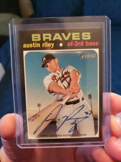 Riley, Austin 2020 Topps Heritage Real One ROA-AR Blue