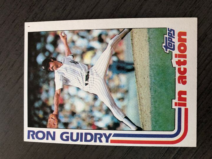 1982 TOPPS RON GUIDRY 10