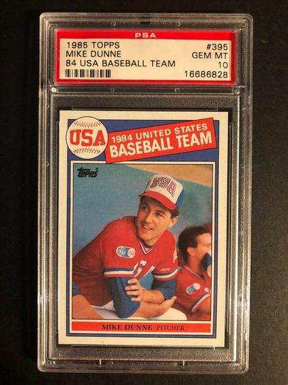 1985 TOPPS MIKE DUNNE 395