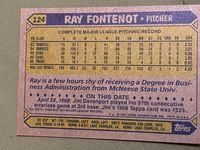 1987 topps 124 ray fontenot