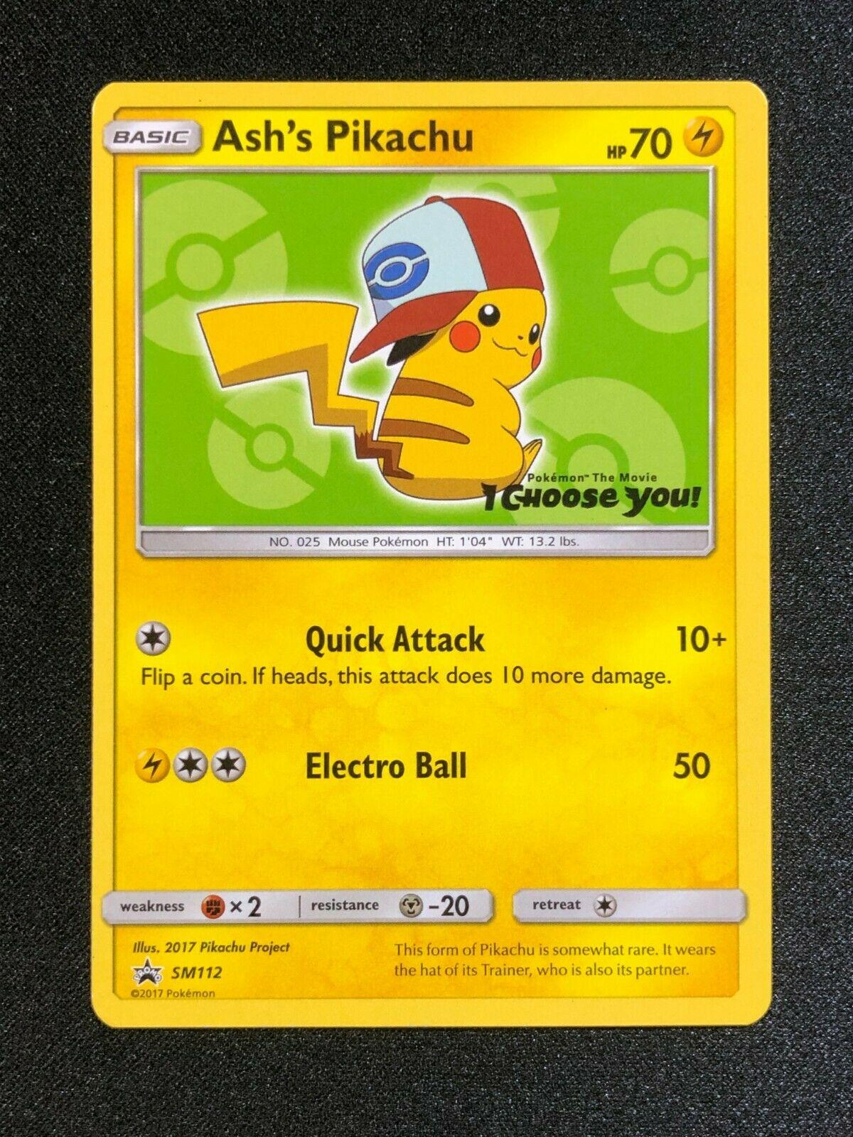SM112 SM Black Star Promo NM-Mint Pokemon Pokemon Promos 1x Ash/'s Pikachu