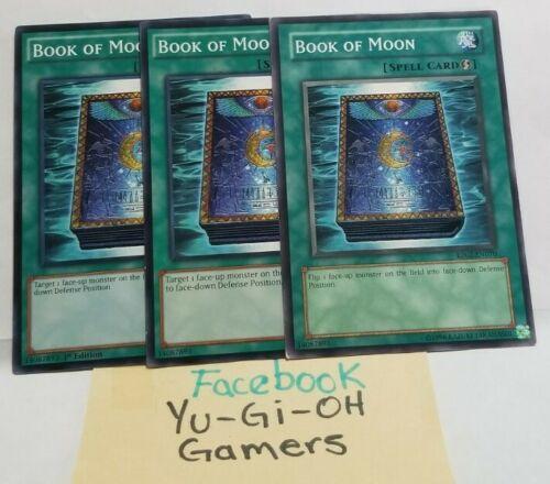 BOOK OF MOON 3X ULTRA RARE 1st EDITION YUGIOH BLAR-EN052