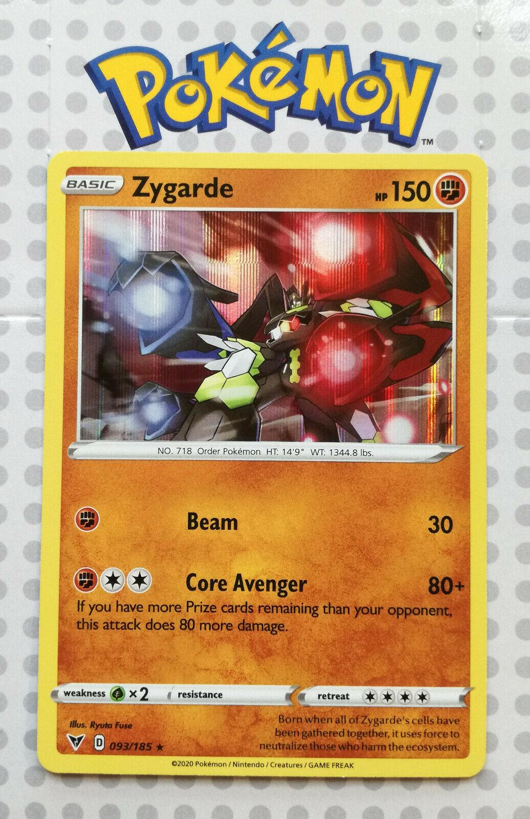 Zygarde 093//185 Vivid Voltage Holo Rare NM Pokémon Card