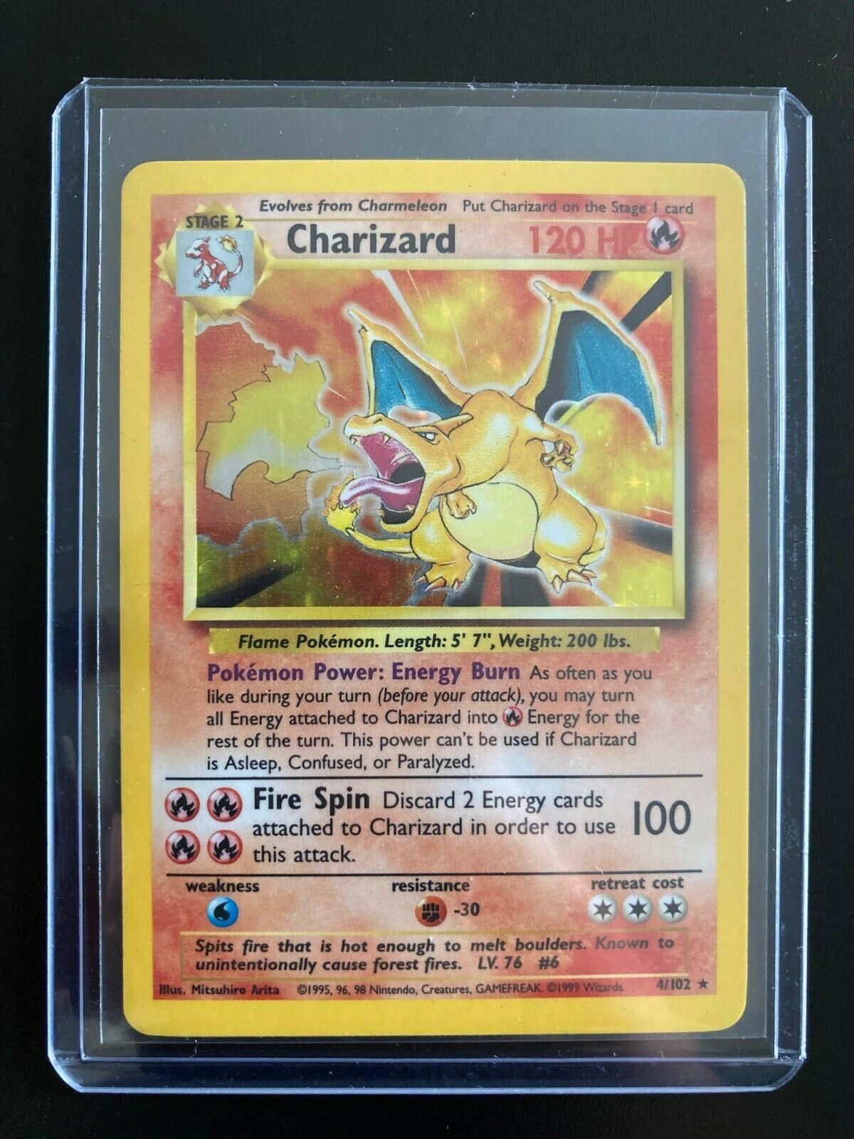 Pokemon Base Set Unlimited Charizard 4//102 PSA 7