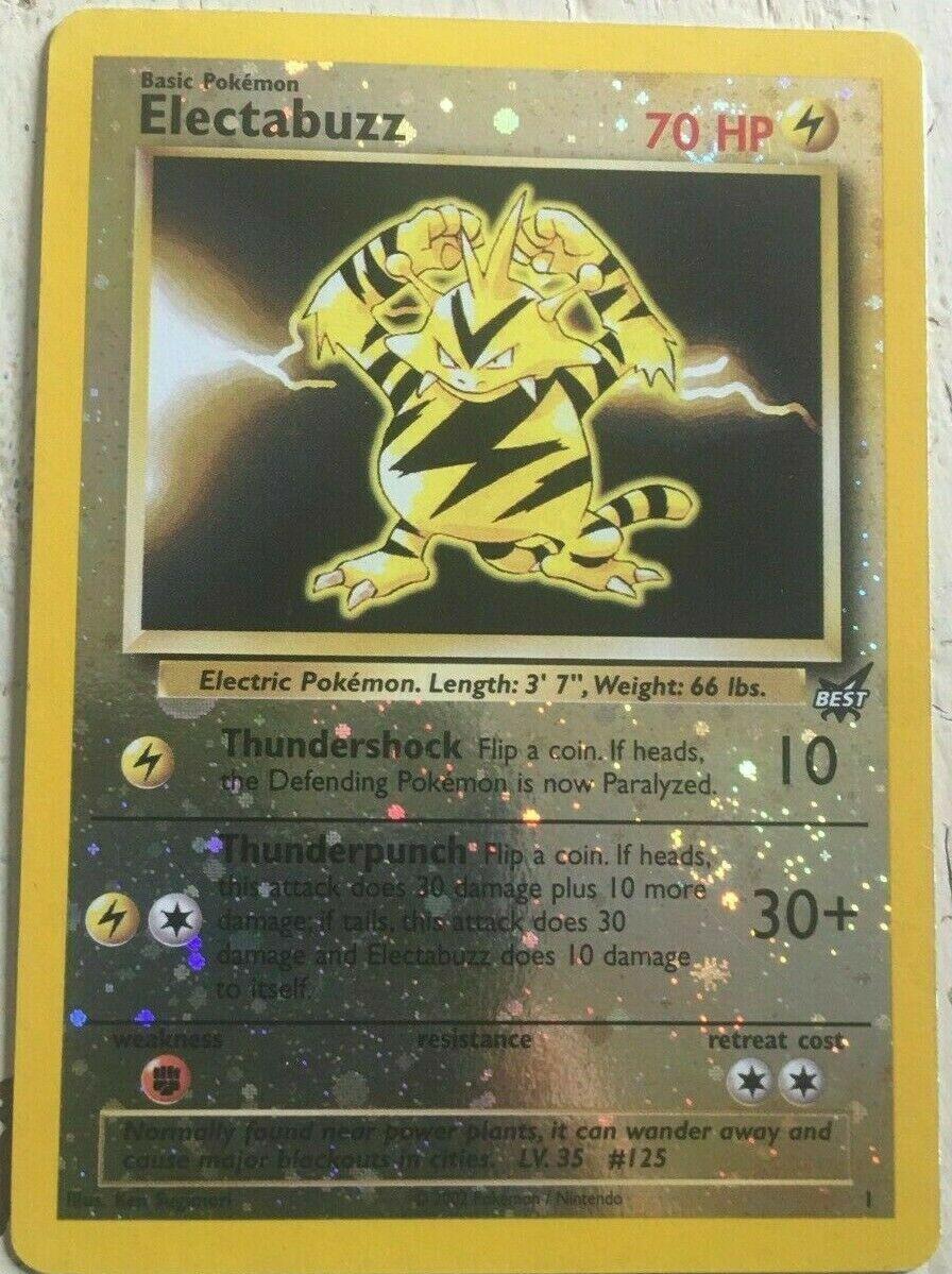 Pokemon Electabuzz WINNER rev HOLO 1
