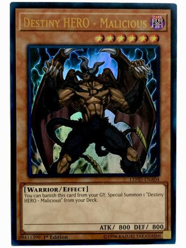 Destiny Hero DP05-EN011 Ultra Rare 1st ed VLP Yugioh Card Malicious