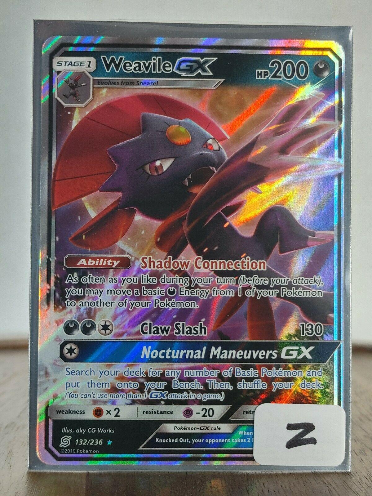 Weavile GX SM11-132 UR Pokemon Unified Minds Card # 132