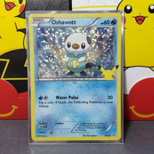 Oshawott 21/25 Holo Pokemon 25th Anniversary Stamped McDonald's Promo Card - NM