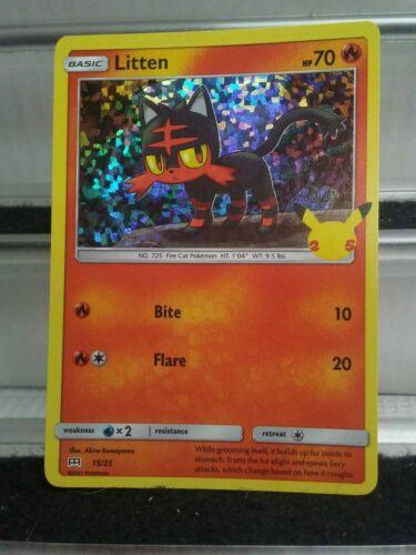 Pokemon McDonald's Litten Hologram 15/25