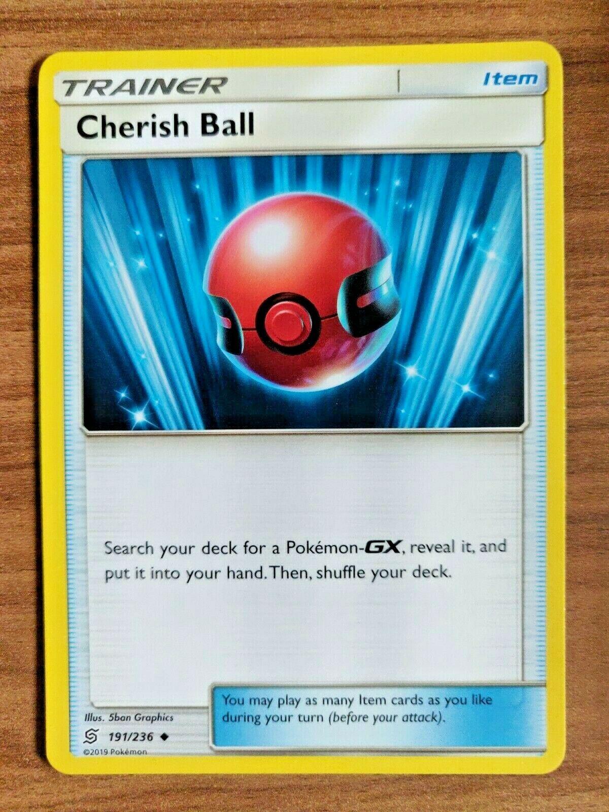 Cherish Ball 191//236 Pokemon SM Unified Minds Card NM Uncommon Trainer