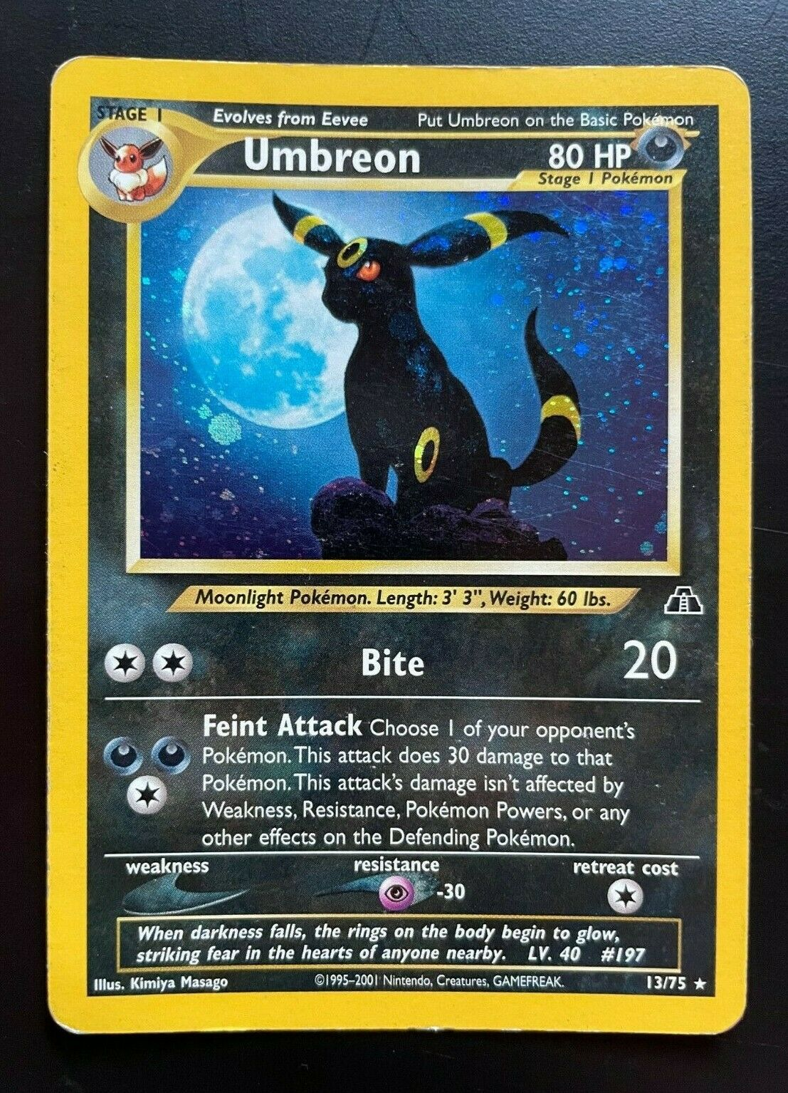 NEO DISCOVERY HOLO  RARE INC UMBREON POKEMON CARDS YOU PICK NR MT MINT