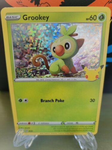 GROOKEY Rare Holo 8/25 Pokemon McDonald's 2021 25th Anniversary