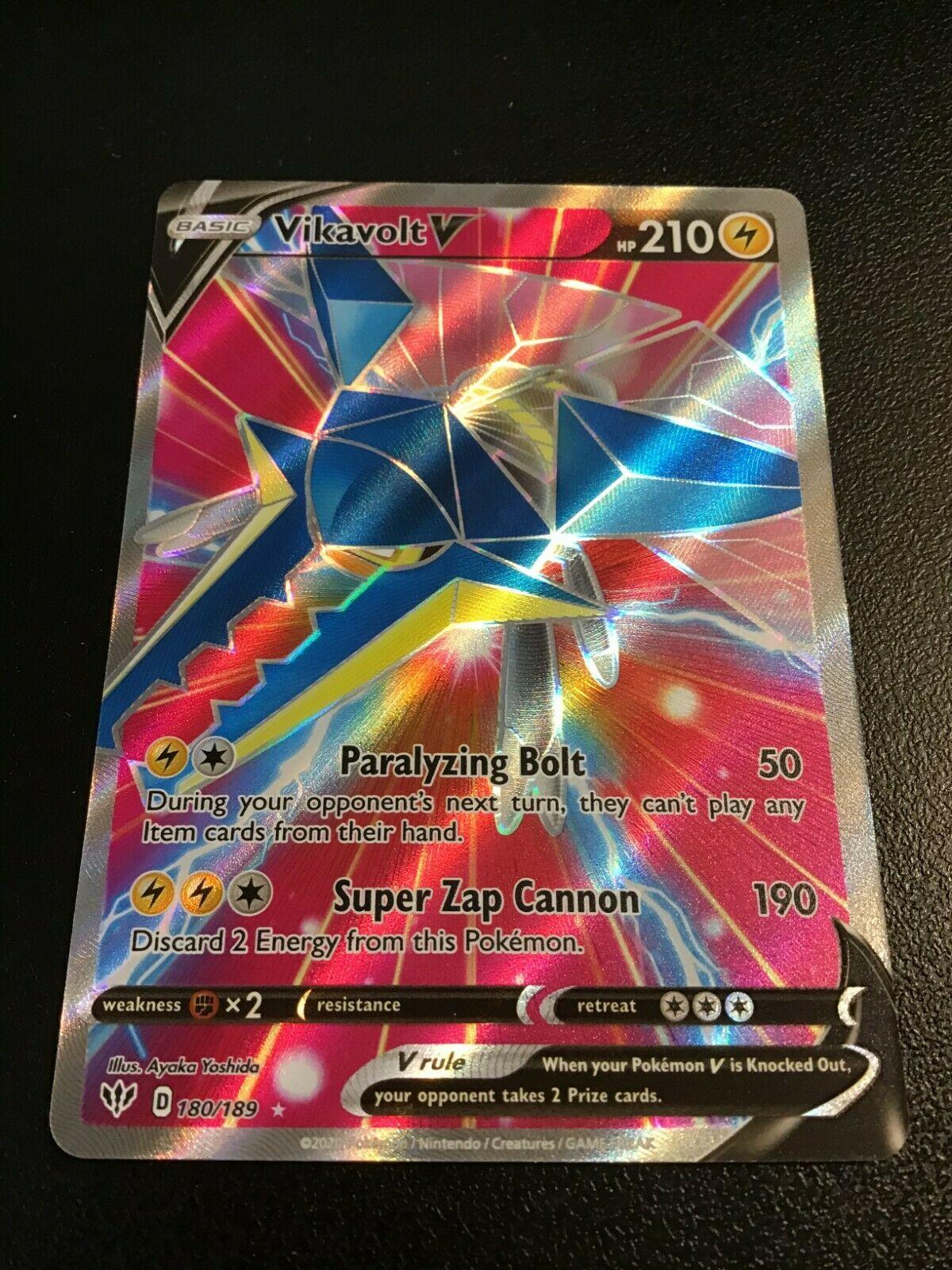 1X Vikavolt V 180//189 Darkness Ablaze Pokemon Online Digital Card