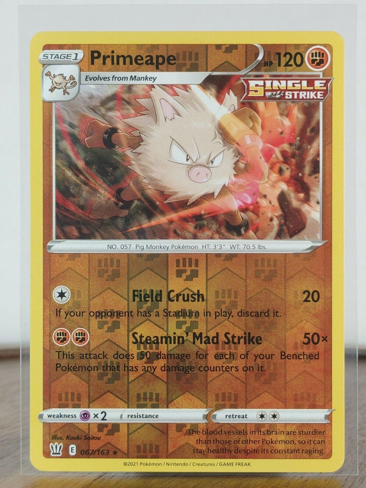 Primeape  067/163 S&S: Battle Styles  ((Holo Reverse))  Mint Pokemon