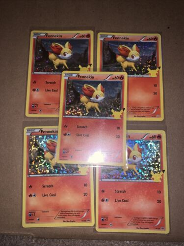 Fennekin 14/25 Holo Pokemon Card McDonald's 25th Anniversary Stamped Promo 2021