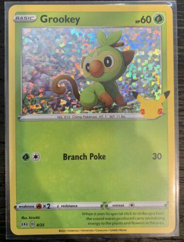 Grookey 8/25 - Pokemon 25th Anniversary - McDonald's Stamped HOLO Promo NM/M