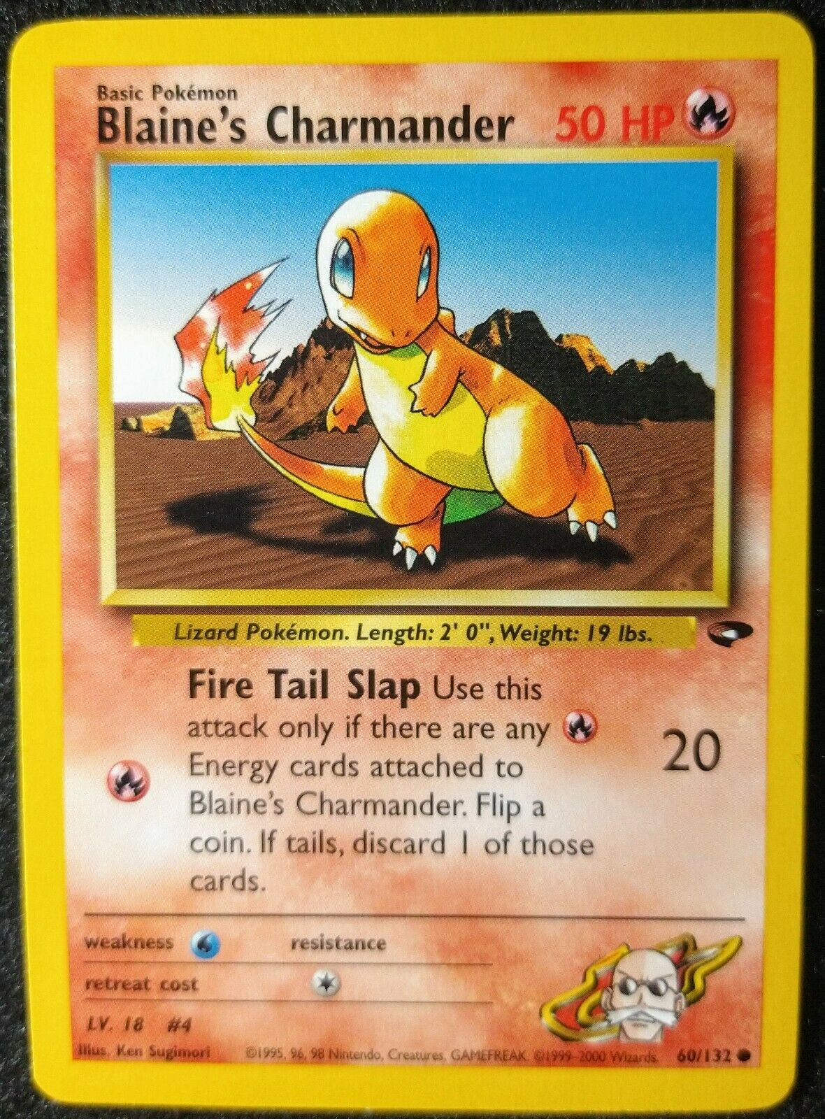 Blaine/'s Charmander 60//132 1st Edition NM Gym Challenge Non-Holo Pokemon Card