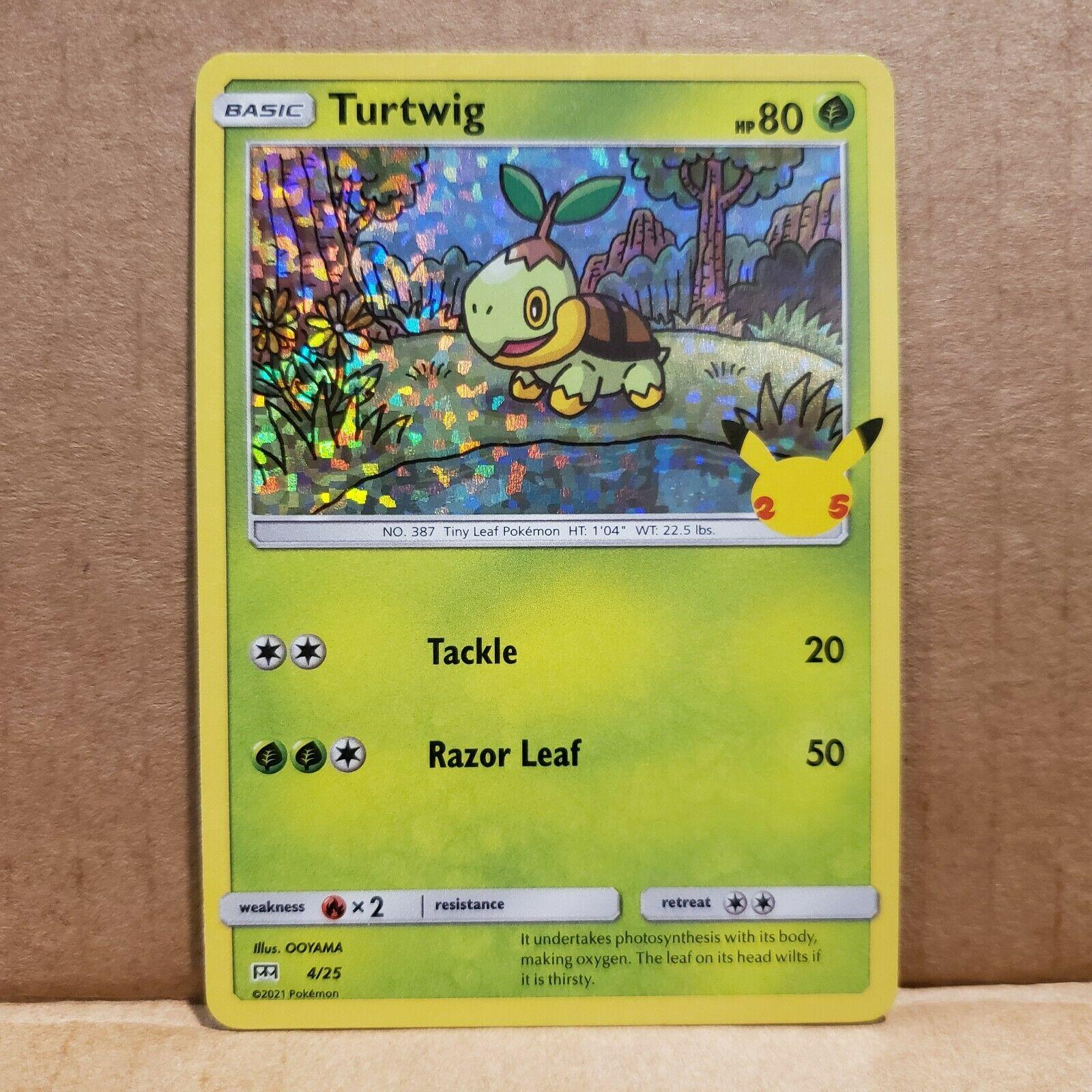 Turtwig Holo 4/25 McDonald's 25th Anniversary Set Pokemon Card