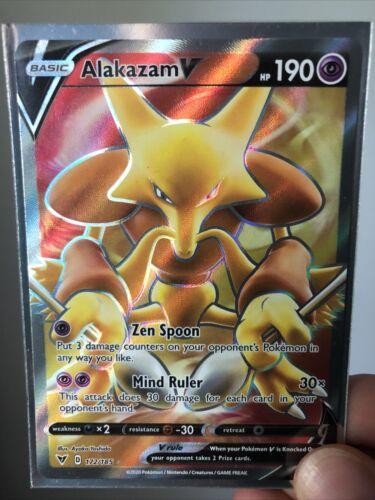 172//185 Alakazam V Full Art Ultra Rare Vivid Voltage Pokemon NM