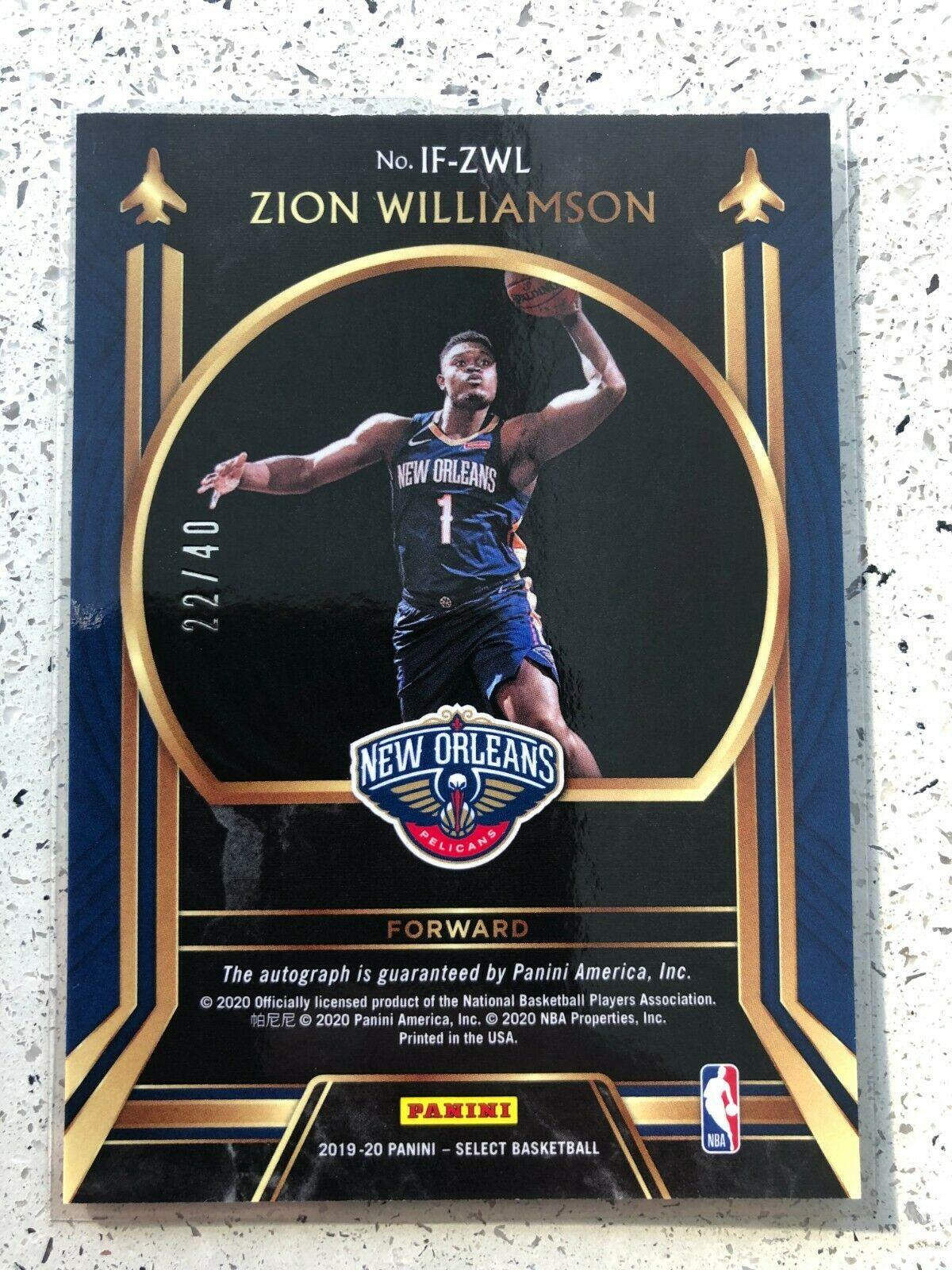 🔥🔥2019-20 Panini Select Zion Williamson In Flight Auto #22/40🔥🔥 - Image 2
