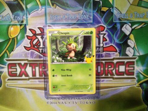 Pokemon: Chespin 6/25 - Non Holo - Mcdonald's Promo 25th Anniversary - *M-NM
