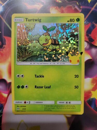 Pokemon McDonald's 25th Anniversary Turtwig 4/25 HOLO Card 2021