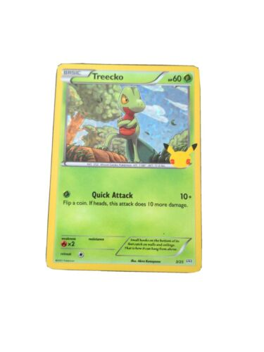 Pokémon 25th Anniversary McDonald's Treecko 3/25 Holographic