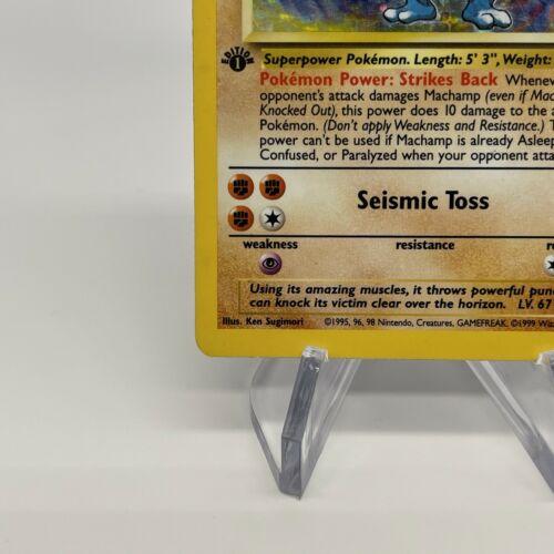 1st Edition Machamp - Holo 8/102 - Vintage 1999 English Base Set Pokemon Card - Image 4