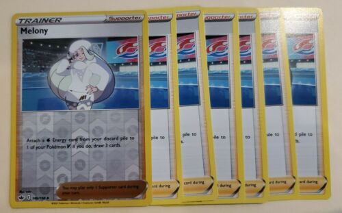 Pokemon Melony NM Chilling Reign 146/198 - Reverse Holo (1) and 6 standard