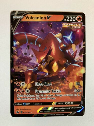 Volcanion V | 025/198 | Pokemon Chilling Reign | NM/M | IN HAND & READY TO SHIP