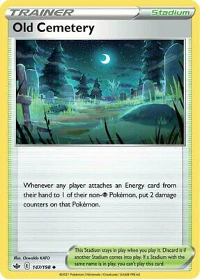 x1 Old Cemetery - 147/198 - Uncommon - Reverse Holo Pokemon SS06 Chilling Reign