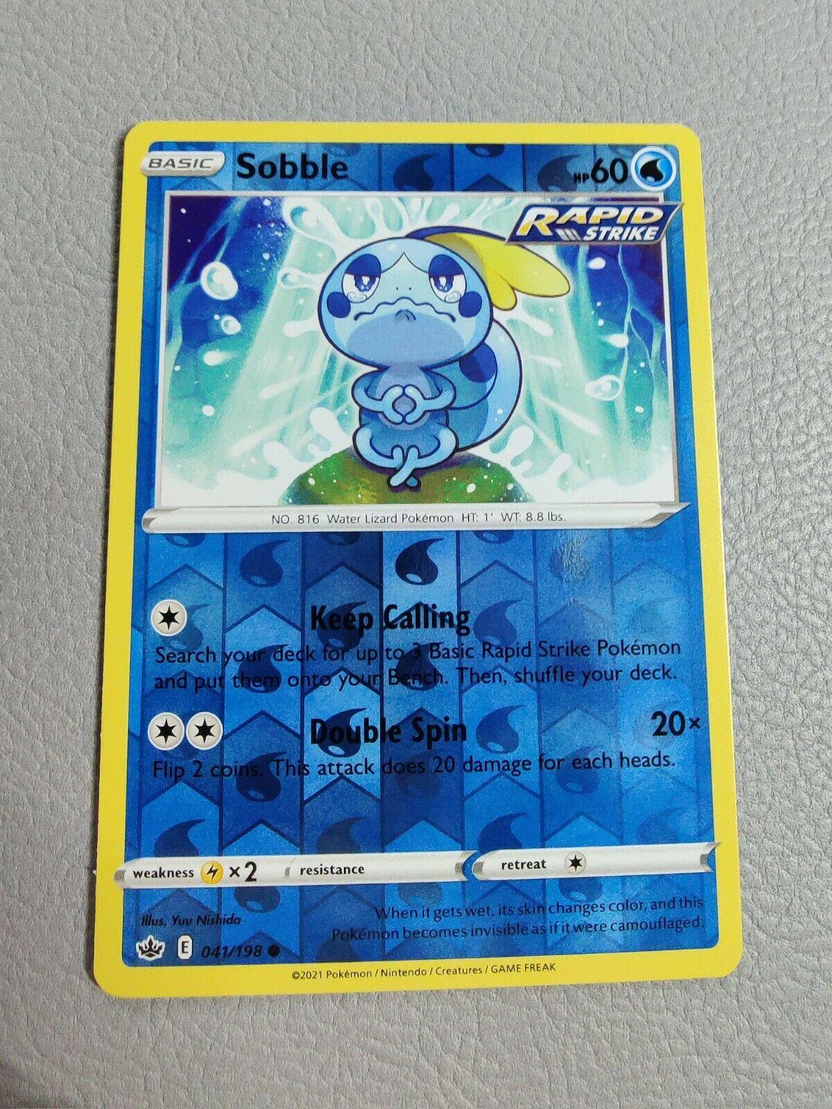 Sobble   Reverse Holo   MINT   Chilling Reign 041/198   Common   Pokemon