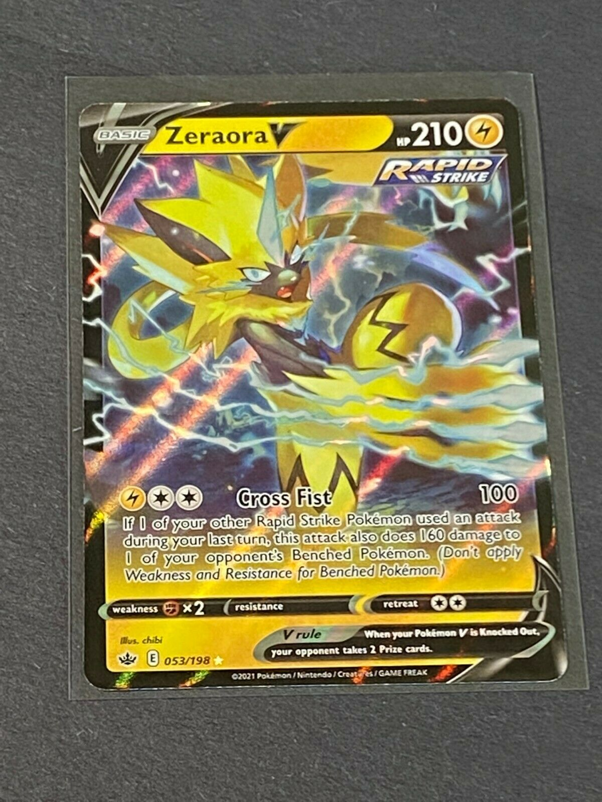 Zeraora V 053/198 Ultra Rare Pokémon TCG Chilling Reign
