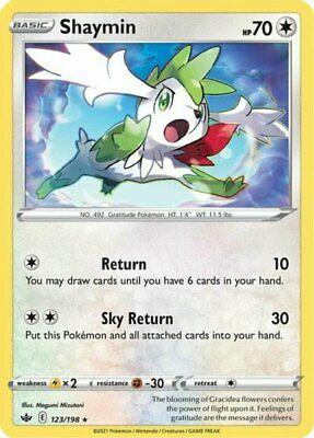 x1 Shaymin - 123/198 - Holo Rare - Reverse Holo Pokemon SS06 Chilling Reign M/NM