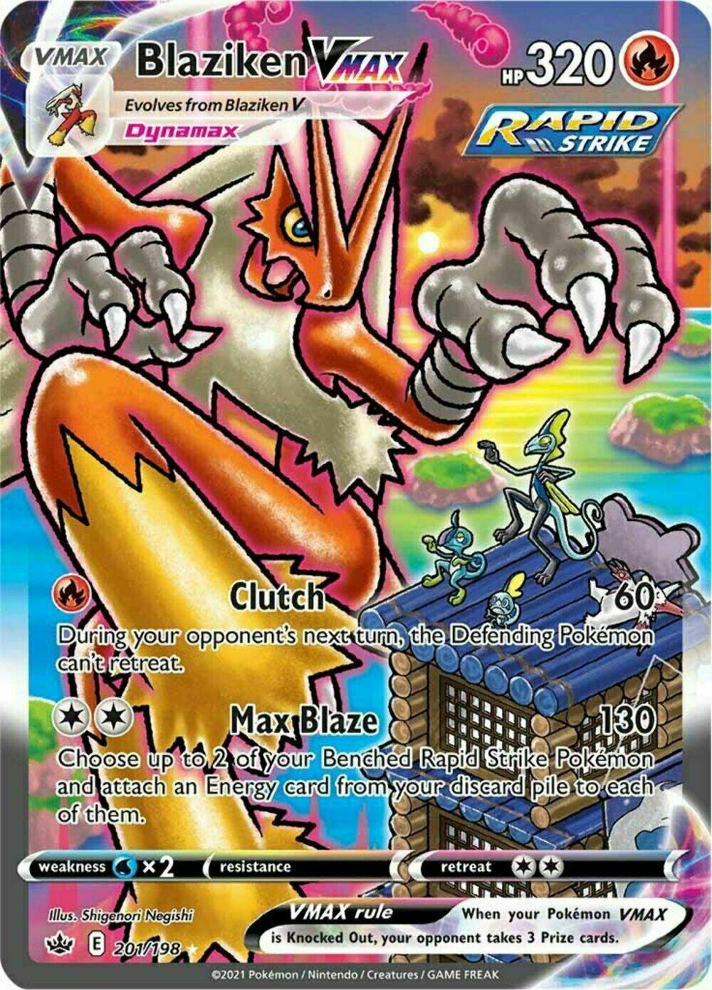 Pokemon - Blaziken VMAX - 201/198 - Secret Rare - Chilling Reign  - NM/M