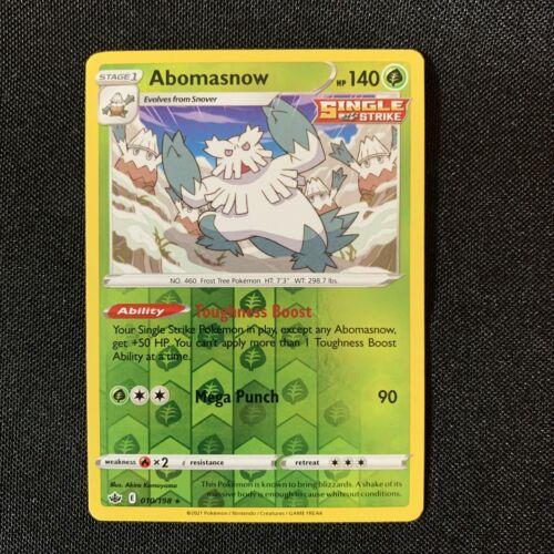 Abomasnow 010/198 Reverse Holo Rare Pokemon Card Chilling Reign - NM