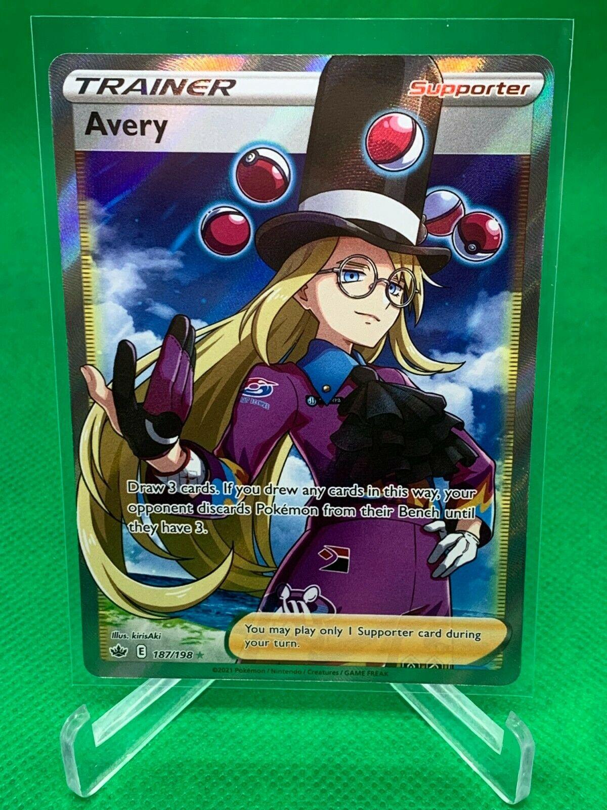 Pokemon - Avery - Chilling Reign - 187/198 - Full Art Trainer - NM