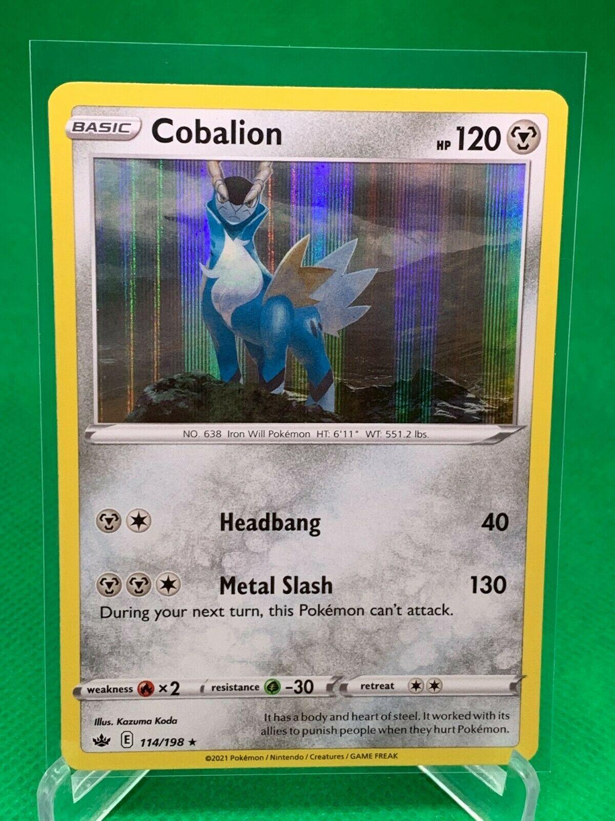Pokemon - Cobalion - Chilling Reign - 114/198 - Holo Rare