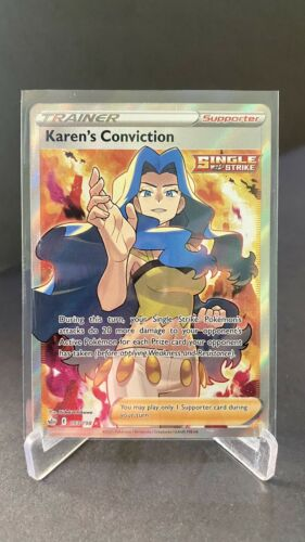 Pokemon TCG - SWSH Chilling Reign Ultra Rare Full Art Karen's Conviction 193/198