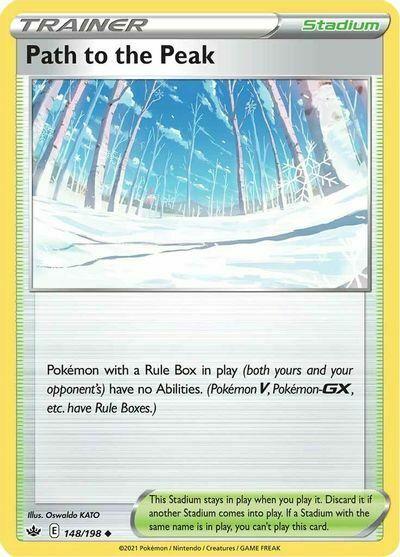x4 Path to the Peak 148/198 Pokemon SWSH06: Chilling Reign NM PP