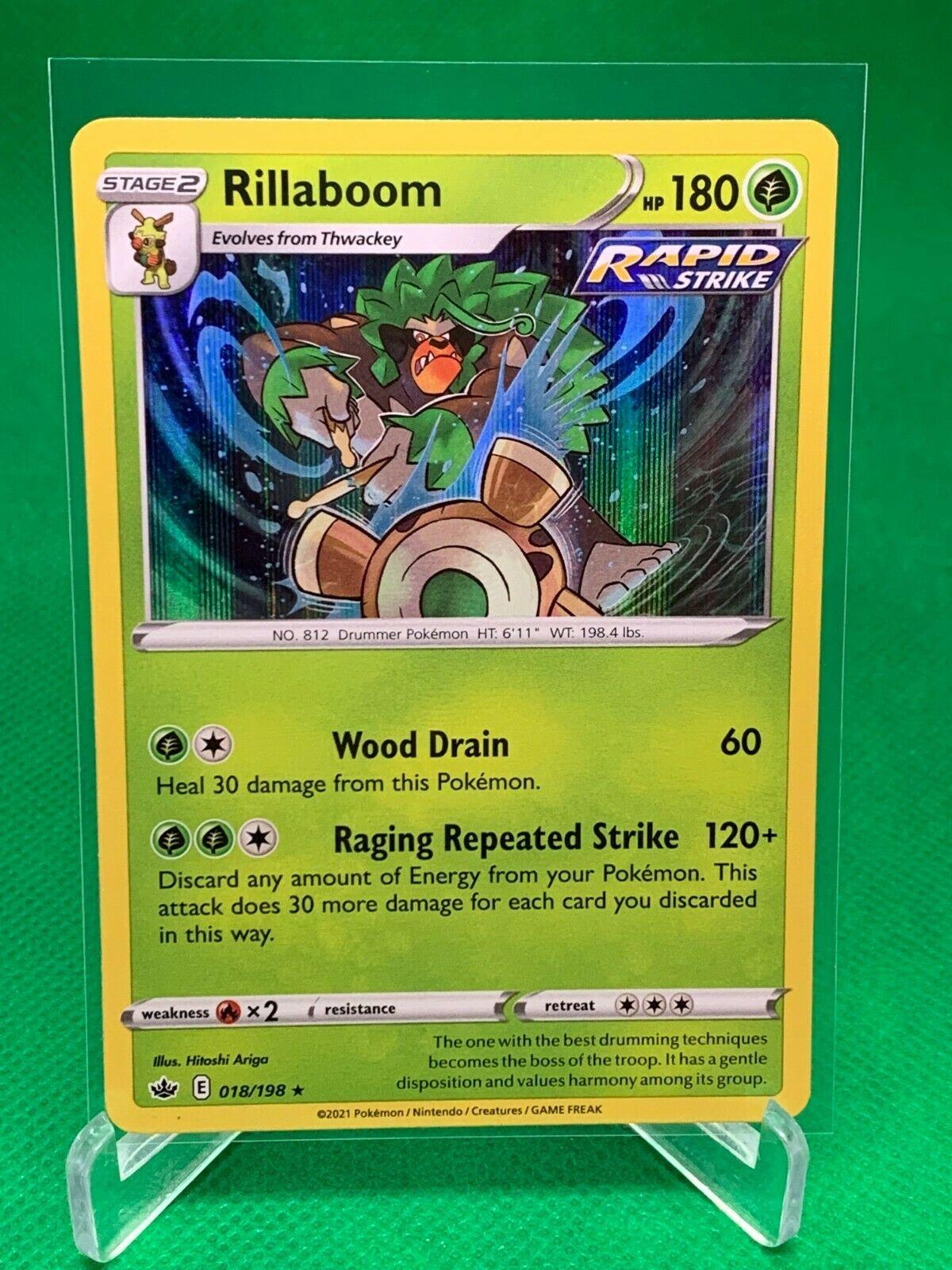 Pokemon - Rillaboom - Chilling Reign - 018/198 - Holo Rare
