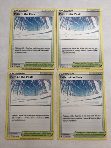 4x Path to the Peak 148/198 Playset Pokemon Chilling Reign
