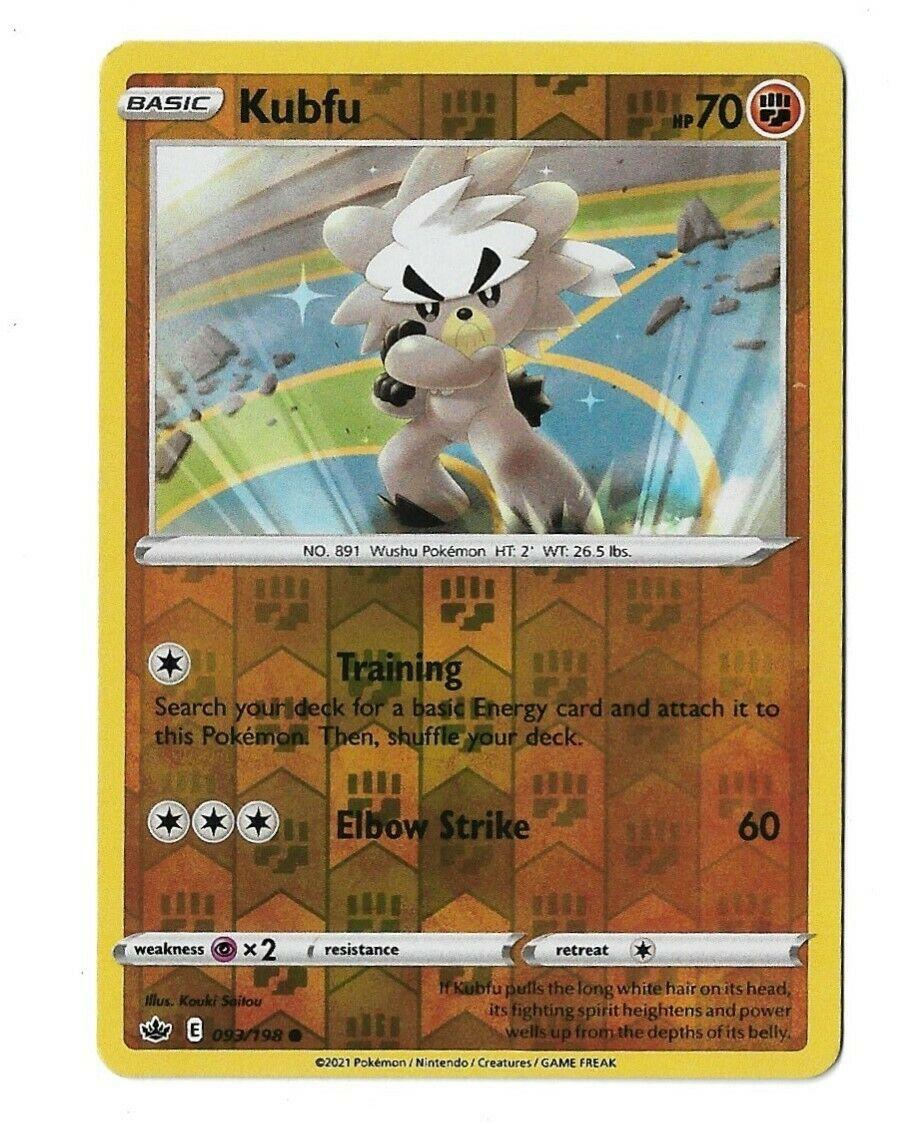 Pokemon TCG Chilling reign reverse holo Kubfu 093/198 NM