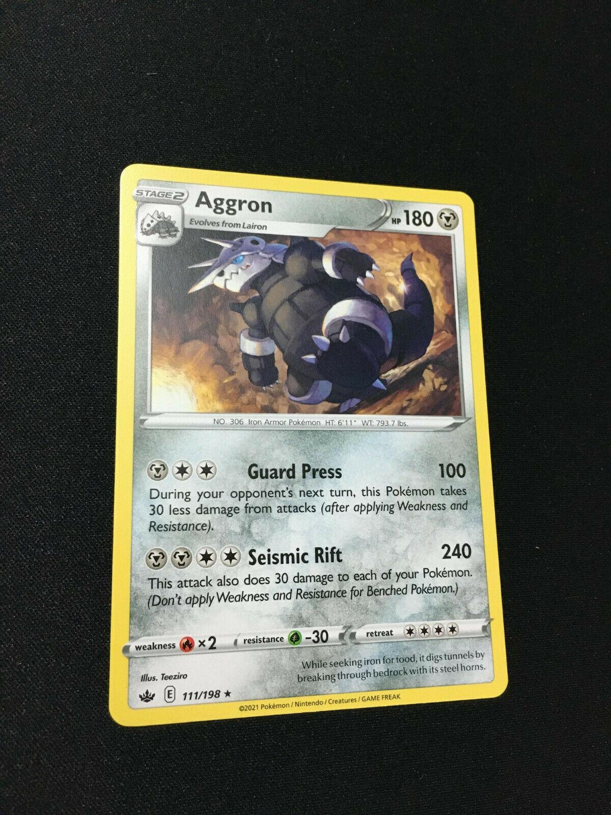 Pokemon TCG Aggron Rare Card Chilling Reign SWSH06 111/198