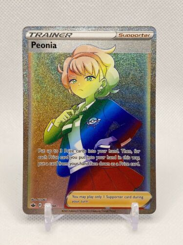 Pokemon Peonia 219/198 Rainbow Secret Rare Chilling Reign Full Art -in Hand!