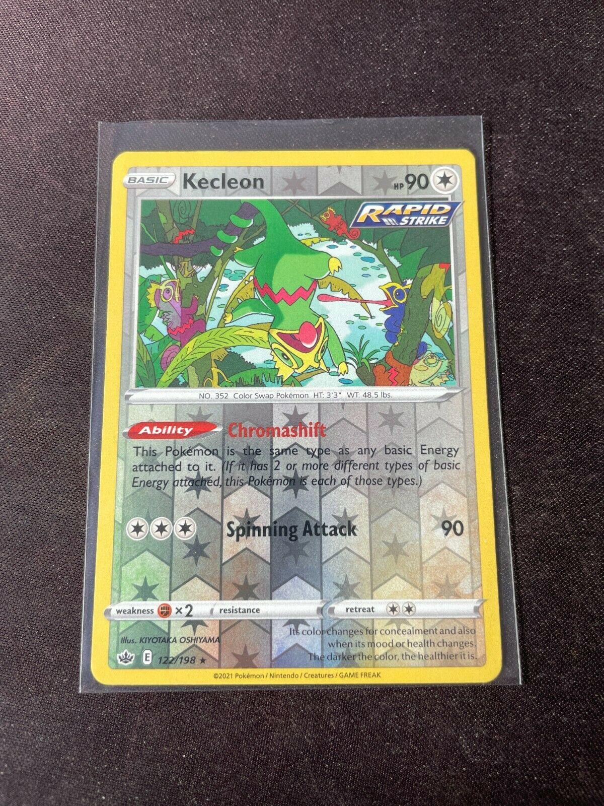 Pokemon TCG Chilling Reign 122/198 Kecleon Card Fresh Reverse Holo Mint Rare